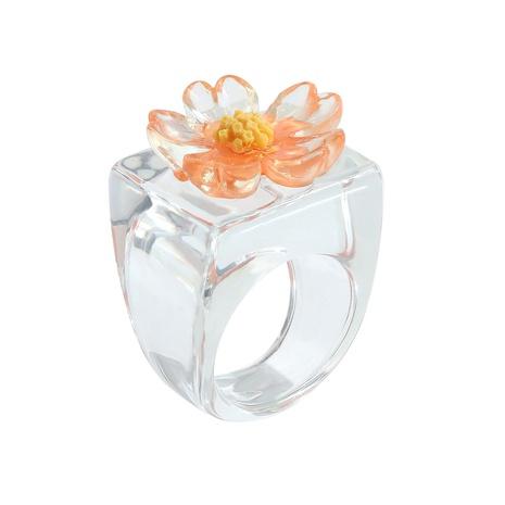 anillo de resina de flor tridimensional de moda al por mayor NHJQ355221's discount tags