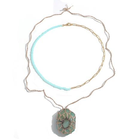 Collar multicapa colgante de acrílico de cadena de cuentas hecha a mano de moda NHJQ355225's discount tags