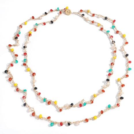 collar largo de cadena de cuentas redondas tejidas a mano de estilo étnico NHJQ355226's discount tags