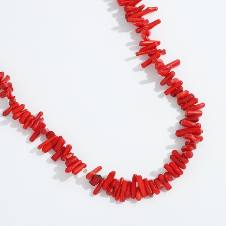 hip-hop handmade red acrylic chain long necklace NHJQ355227's discount tags
