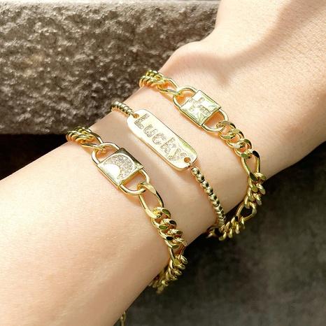 Korean style rainbow moon cross pattern bracelet  NHAS355241's discount tags