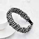 Retro fabric fashion style houndstooth bubble fold headband  NHCL355285