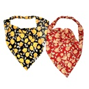 retro rose style printing triangle scarf hair band  NHCL355292