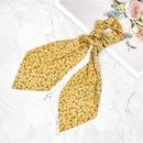 Korean style small floral streamer hair scrunchies NHCL355293