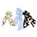 Korean style chiffon flower bowknot streamer hair scrunchies   NHCL355299