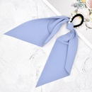 simple solid color long ribbon high elastic pearl decor hair scrunchies NHCL355301