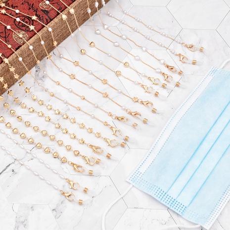 moda colgante cuello cristal extensión metal perla gafas cadena NHCL355303's discount tags