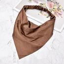 Simple fashion retro Satin Pure Color Triangle Headband NHCL355316