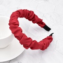 Korea simple frosted solid color bubble fold headband NHCL355317