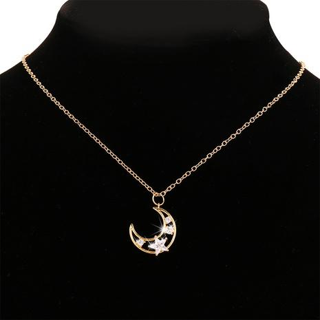 Collar de cristal de aleación de luna de pentagrama de moda NHYI355328's discount tags