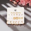 retro creative pearl small circle earrings 9 sets NHPJ355340