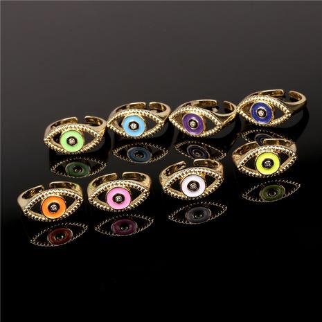 fashion diamond-studded demon's eye drop oil ring  NHPY355350's discount tags