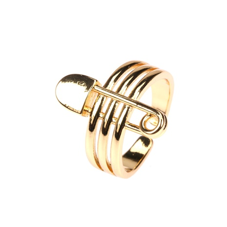 fashion geometric pin multi-layer ring wholesale  NHPY355360's discount tags