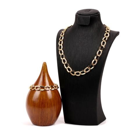 Cuban chain trendy hip-hop copper gilded zircon bracelet set NHPY355362's discount tags