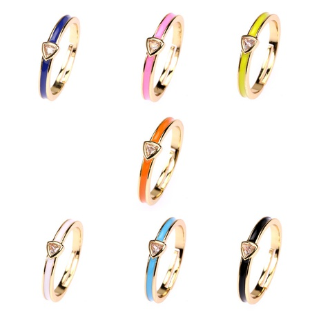 fashion candy color oil dripping zircon ring wholesale  NHPY355364's discount tags