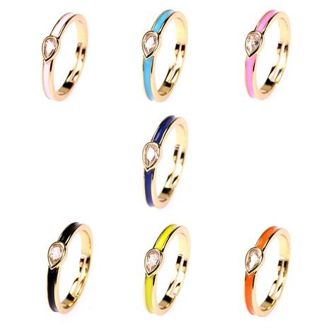 fashion drop shape zircon drip oil ring wholesale  NHPY355365's discount tags