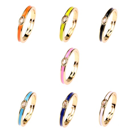 fashion dripping geometric zircon ring wholesale  NHPY355366's discount tags