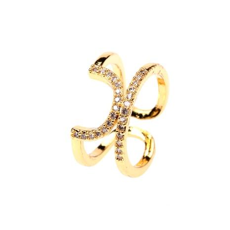 fashion geometric line zircon adjustable ring NHPY355371's discount tags