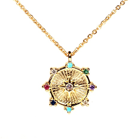 fashion eight-pointed star pendent copper necklace  NHPY355375's discount tags