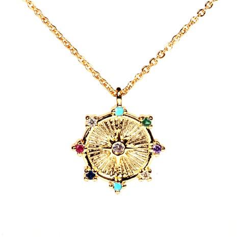 collar de cobre colgante de estrella de ocho puntas de moda NHPY355375's discount tags
