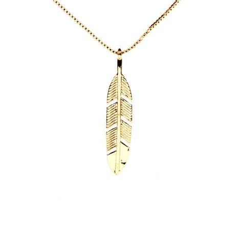 fashion leaf pendant copper necklace wholesale  NHPY355377's discount tags