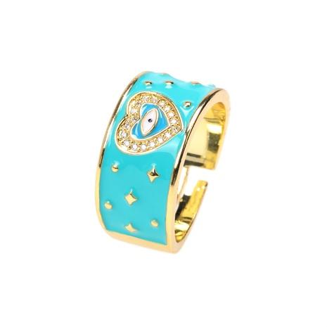 Fashion Devil Eye Diamond Open Ring Wholesale NHPY355378's discount tags