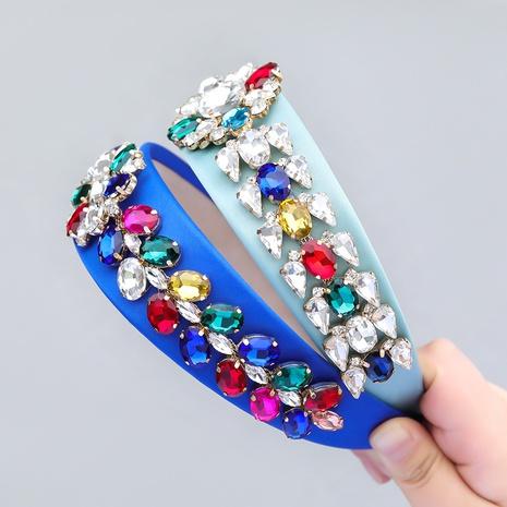 Mode Stoff Glas Diamant Blume Stirnband Großhandel NHJE355482's discount tags