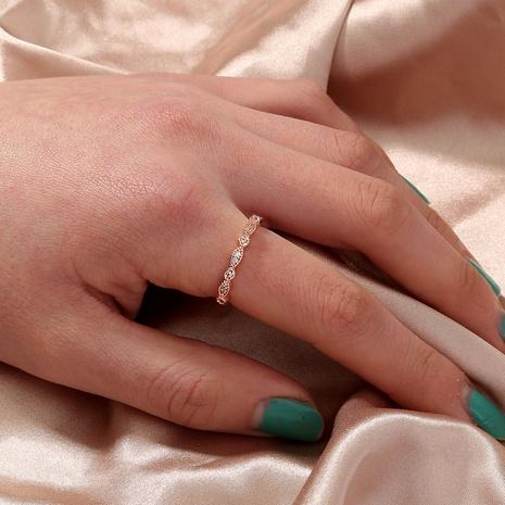 fashion alloy geometric micro diamond ring  NHAN355542's discount tags