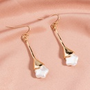 fashion simple style fivepointed star pearl earrings NHAN355551
