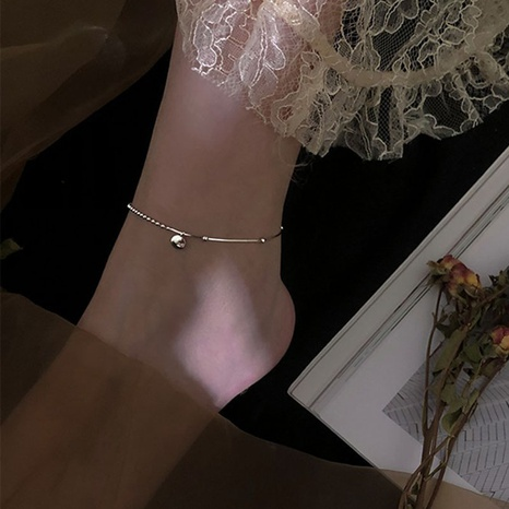 S925 silver lucky korean simple sexy wild anklet NHLON355655's discount tags