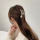 fashion metal pearl large shark clip wholesale  NHWB355730