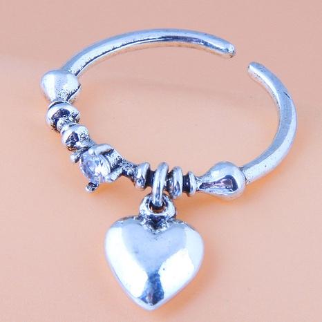 Mode einfache Retro Pfirsich Herz Anhänger offenen Ring NHSC355937's discount tags