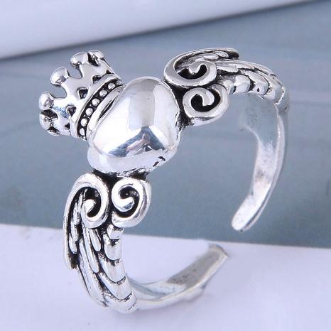 neue Art Mode einfache Retro Engel Liebe offenen Ring NHSC355932's discount tags