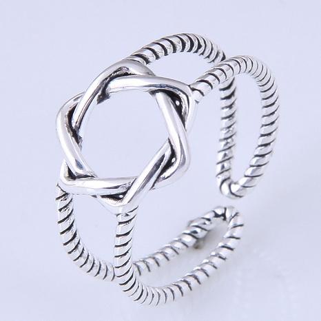 neue Mode einfachen Retro geflochtenen Stern offenen Ring NHSC355928's discount tags