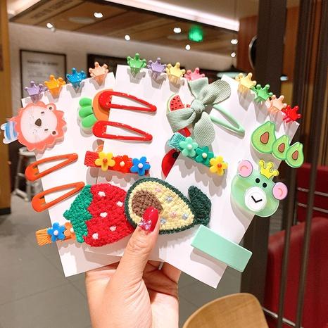Niedliche Karikaturbogenfrucht-Tier-Haarnadel der koreanischen Artkinder NHSA355767's discount tags