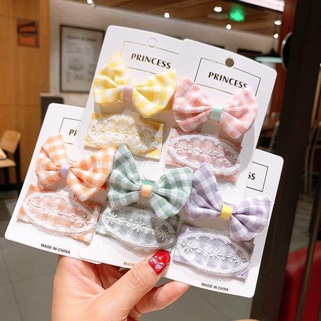Quadratische Haarnadel mit Gitterbogen im koreanischen Stil NHSA355770's discount tags