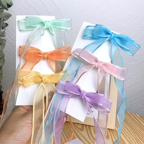 Mode Kinder geflochtene Luftschlangen Bogen Haarspangen NHSA355780's discount tags
