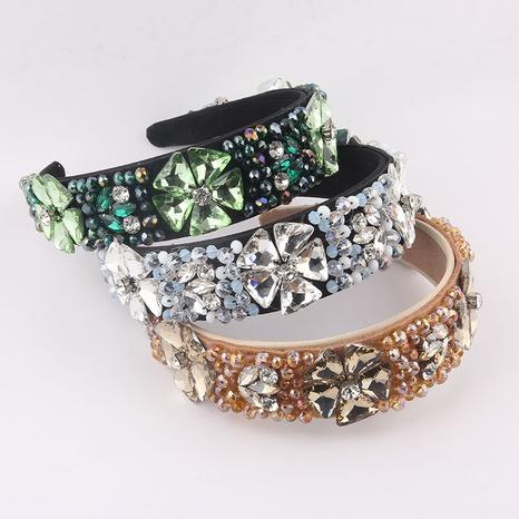 Transparentes großes Blumenstirnband des Barockkristalldiamanten NHWJ355878's discount tags