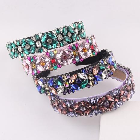 Barock eingelegtes farbiges Strassband mit breitem Stirnband NHWJ355879's discount tags