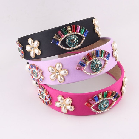 Barock diamantbesetzte farbige Augen blühen Stirnband NHWJ355880's discount tags