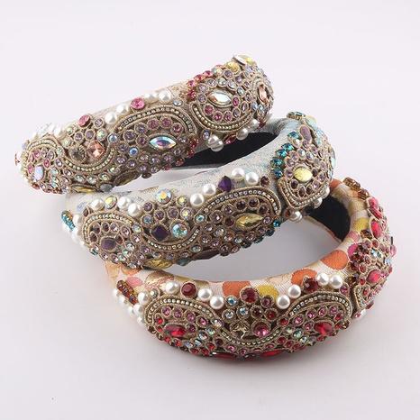 Mode Schwamm Diamant besetzt Perlen Stirnband Großhandel NHWJ355889's discount tags