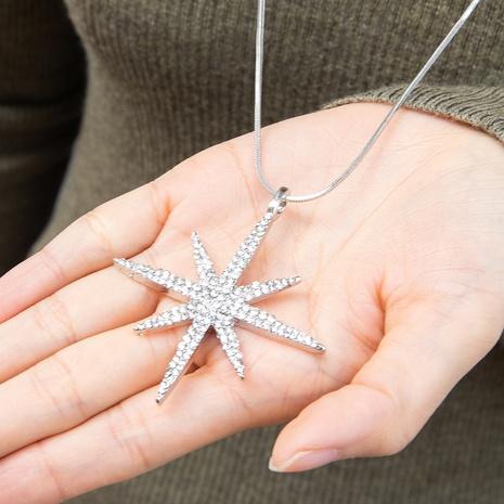 Mode einfache Diamant sechszackige Stern Anhänger Halskette NHAKJ355945's discount tags