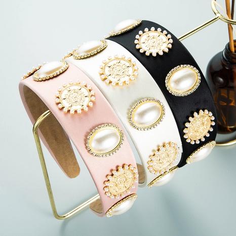 Retro Barock Palast Stil einfache Perle Stirnband NHLN355962's discount tags
