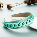 new French color resin chain fabric simple broadbrimmed headband NHLN355964