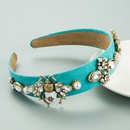 new baroque retro simple alloy flower bee dripping headband NHLN355967