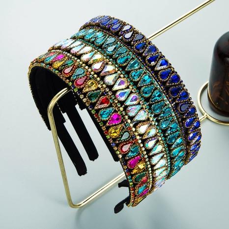 neuer Stil koreanische Mode Farbe tropfenförmiges Strass Stirnband NHLN355968's discount tags