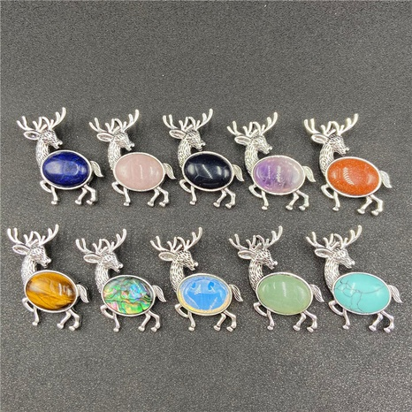 Animal Necklace Brooch Exaggerated Shell Elk Multicolor Corage NHJIC356007's discount tags