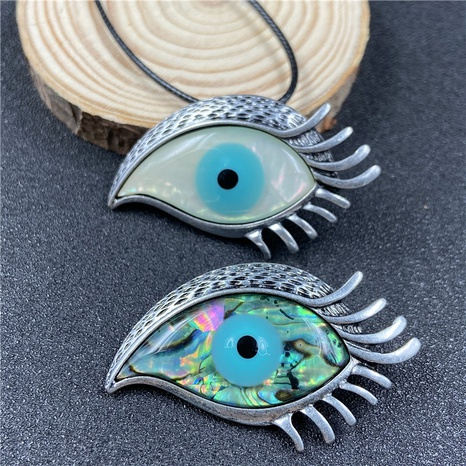 Abalone shell evil eye brooch inlaid shell white shell Turkey eye brooch Accessories NHJIC356018's discount tags