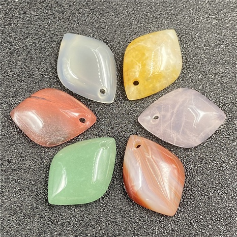 Agate petal leaves diy topaz jade novice ancient jewelry accessories wholesale NHJIC356036's discount tags