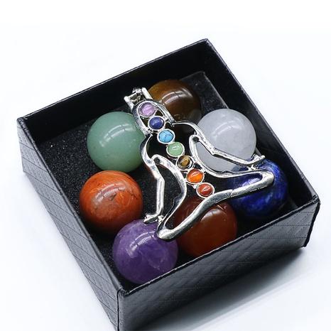 Chakela Seven Chakra Naturenergiestein 20MM Round Ball Boxed Yoga Heilstein NHKES356045's discount tags